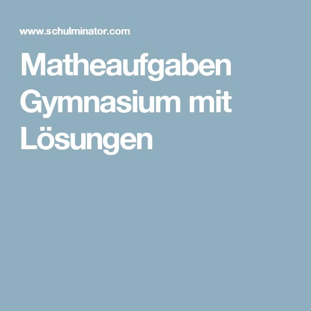 matheaufgaben gymnasium mit l sungen lernen. Black Bedroom Furniture Sets. Home Design Ideas