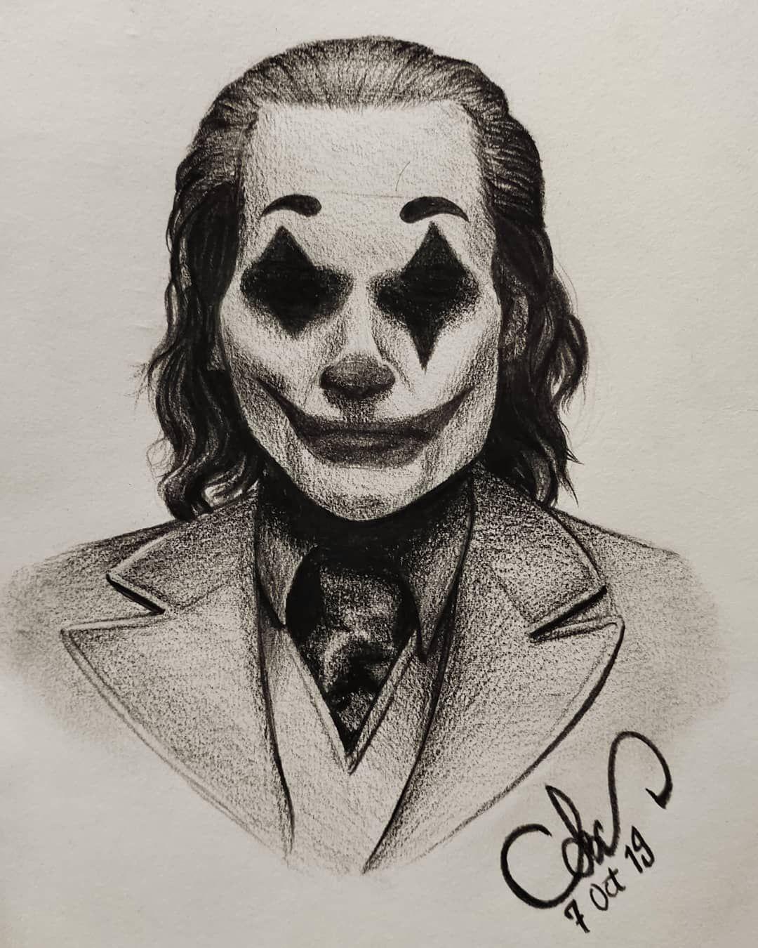 Sketch Charcoal Work 1 5 Hours Joker Joaquinphoenixjoker