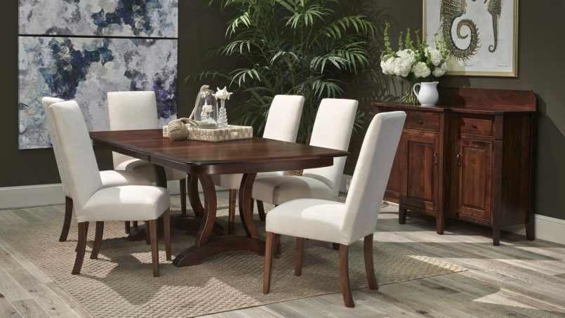 Dining Room Green Plant White Futon Chair Wooden Table Flower Vase Cream Carpet Painting Jar Side Board Some Tips To Arrange