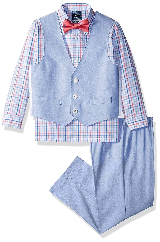 68e1afbf545 Amazon.com: IZOD Boys' 4-Piece Formal Dresswear Vest Set with Bow ...