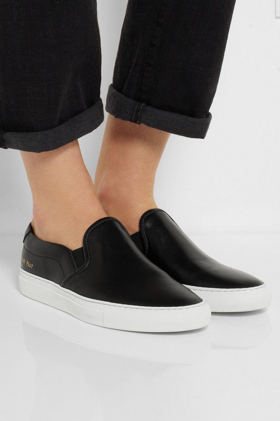 Slip on sneakers, Leather slip ons