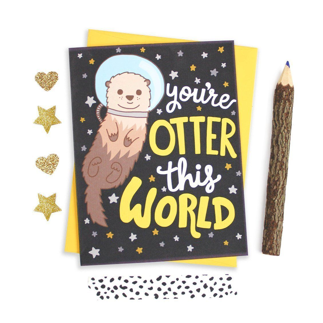 Otter Birthday Card Card For Grad Otter This World Cute Love Card