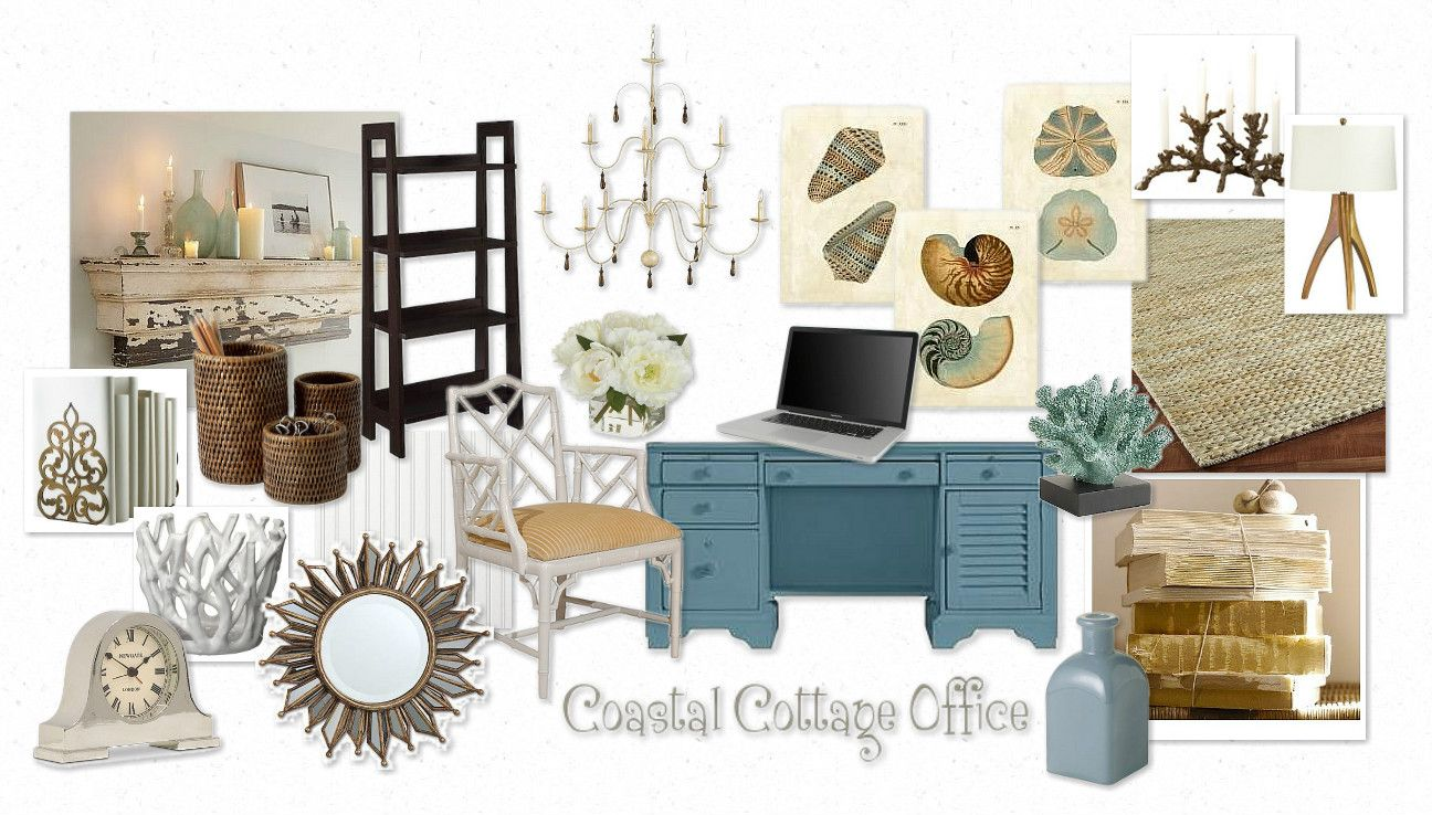 Setting The Mood For A Coastal Cottage Office Living Room Decor