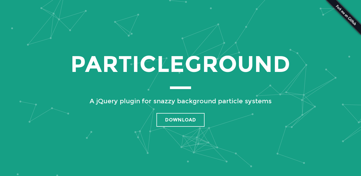 Particleground A Jquery Plugin For Snazzy Background Particle Systems Plugins Web Design Jquery