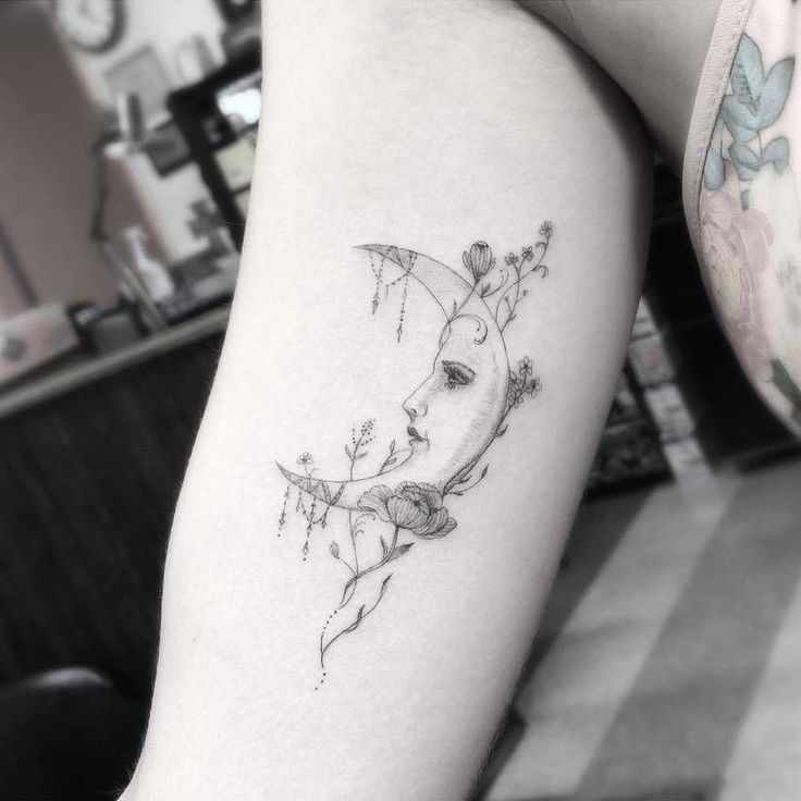 37++ Amazing Moon tattoo designs for ladies image HD