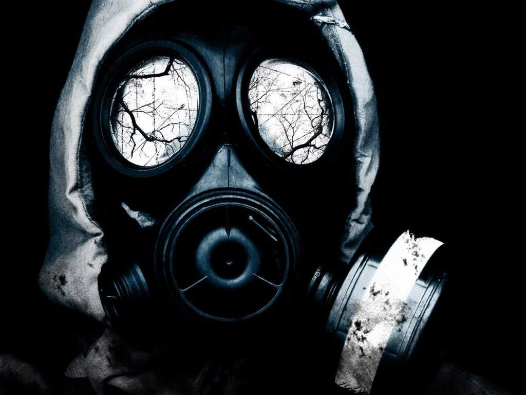 Wallpapers For Dubstep Wallpaper Gas Mask Green
