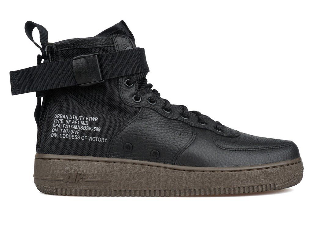 timeless design f8ac2 bb6e9 Zapatos De Cuero · Nike SF Air Force 1 Mid 917753 002