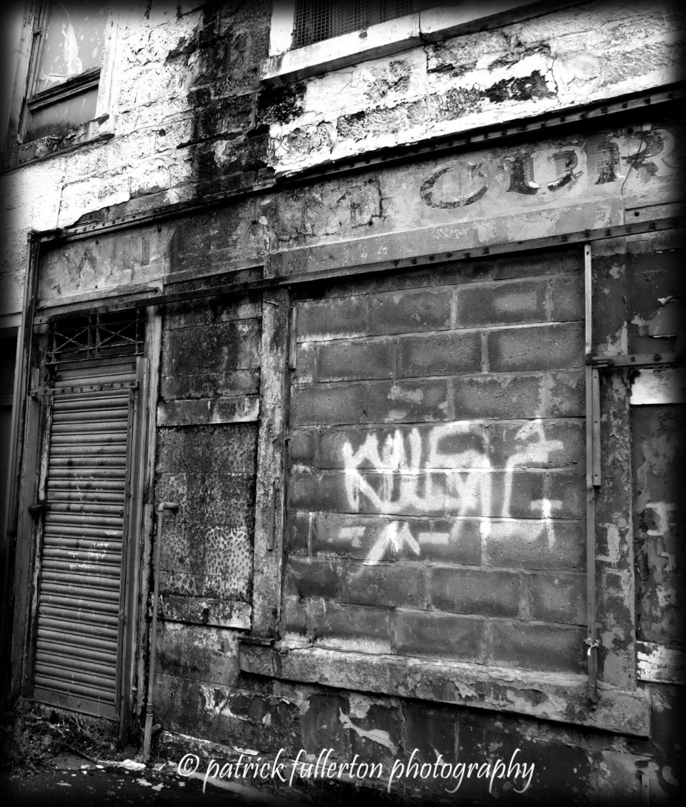 Photography, Urban Decay Glasgow Scotland, Fine Art 10 X