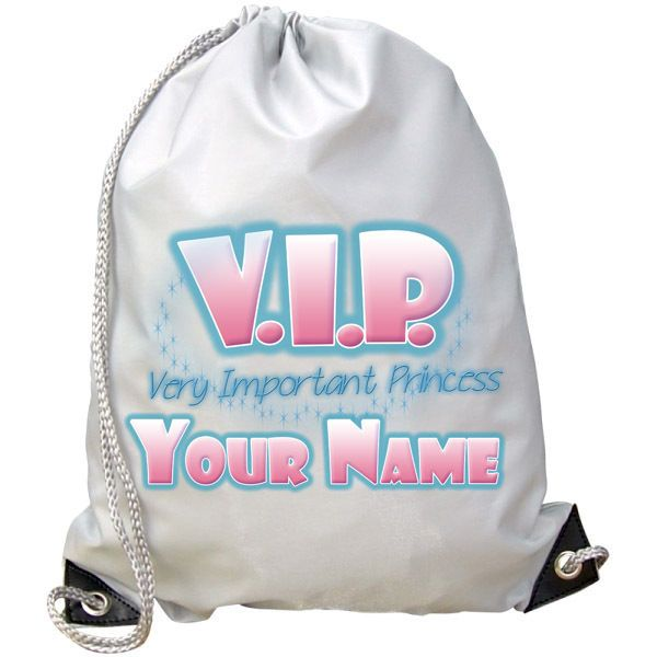NAMED GIFT SWIMMING DANCE BAG VIP VERY IMPORTANT PRINCESS PERSONALISED GYM