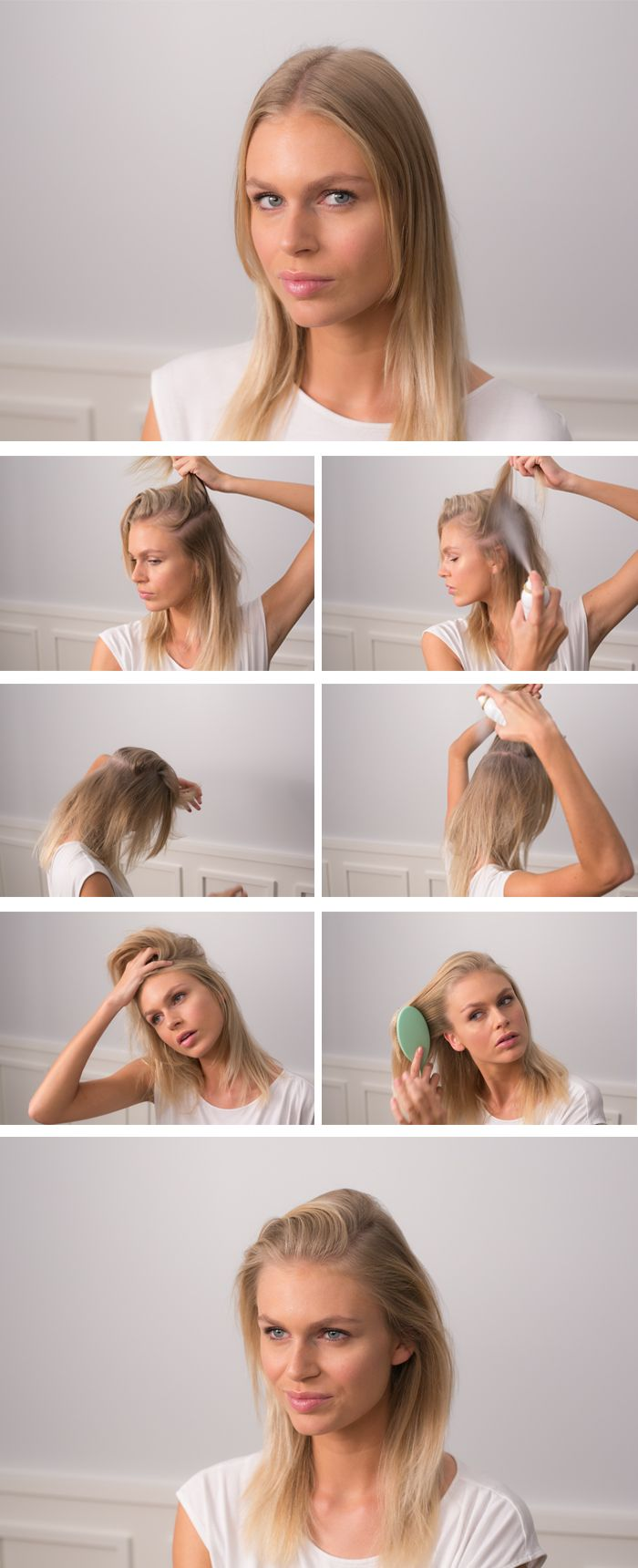 Hair Tutorial How To Apply Dry Shampoo Hairstyles For Thin Hair Dry Shampoo Hair Beauty