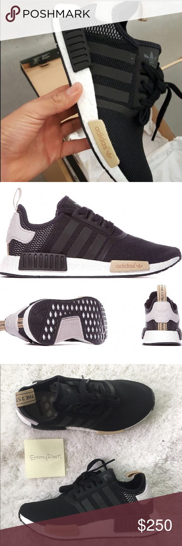 d81cedb9c8fce New Adidas NMD R1 Black  Ice Purple ••  200 on either Vinted or P ...
