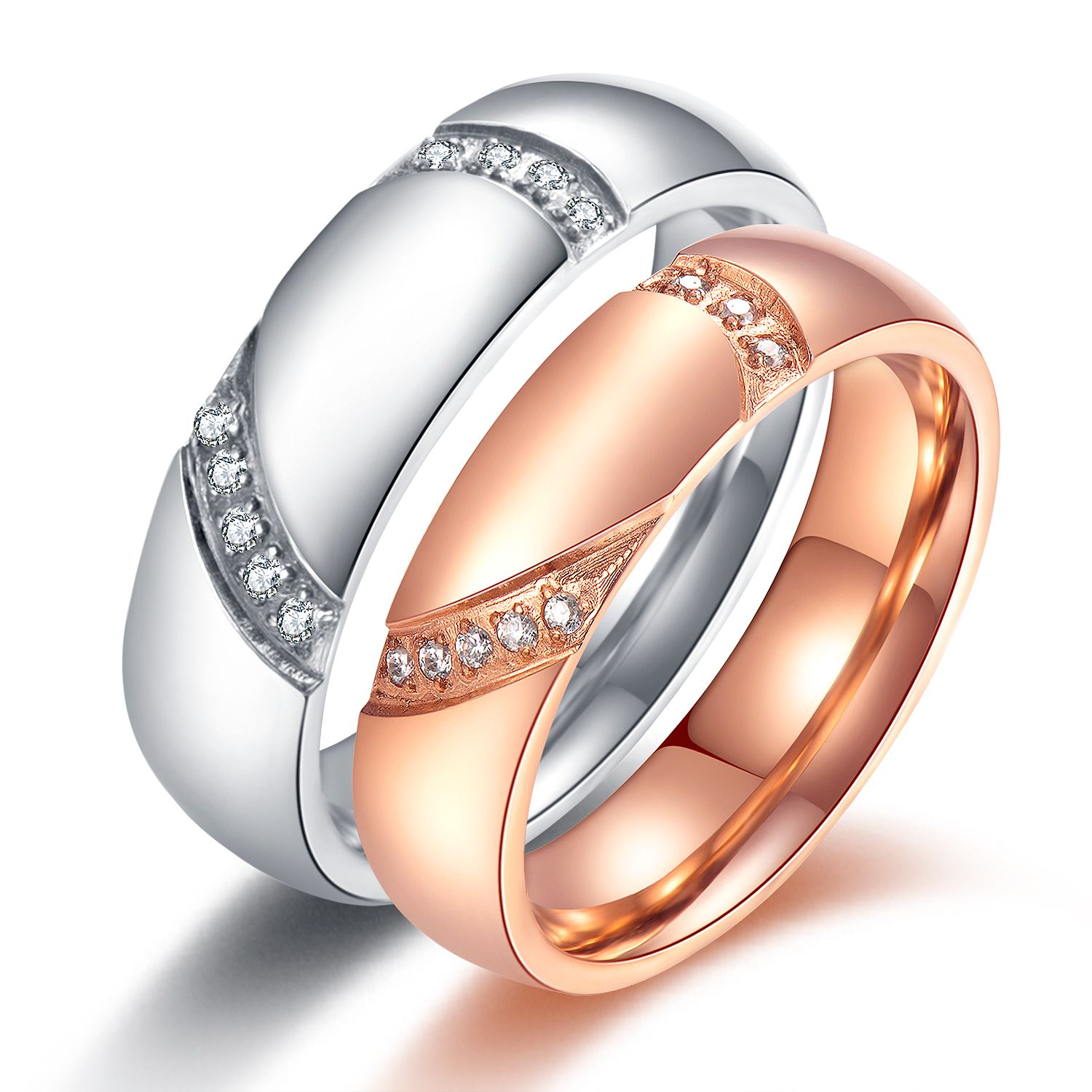 with couple s ring product women rings fashion stone band wholesale engagement black detail steel stainless wedding