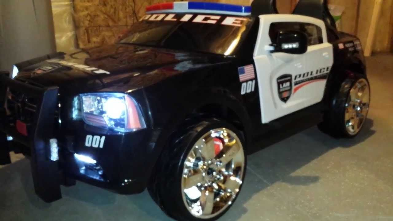 Modified Kid Trax Police Charger W Led Lights Trax Police Led Lights