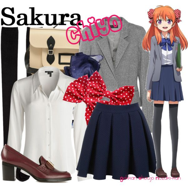 Gekkan Shoujo Nozaki Kun Sakura Chiyo School Uniform Cosplay Costume Suit New