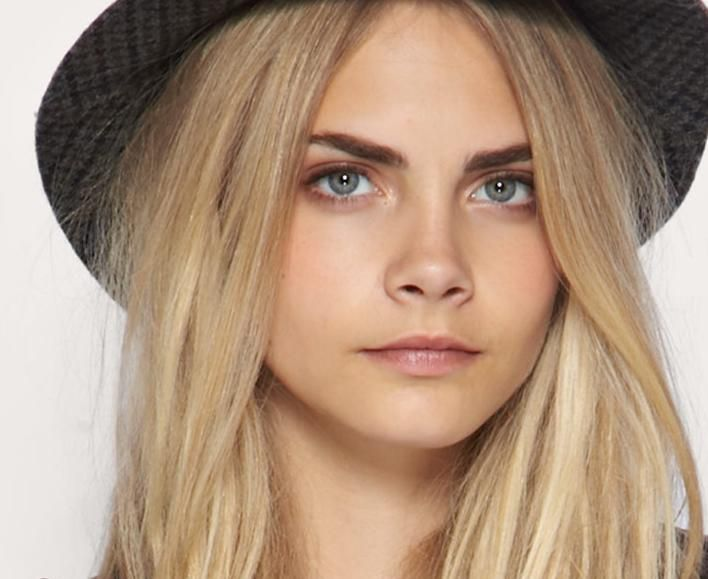 Blonde Hair Dark Eyebrow Celebrity Trend Beauty In 2018
