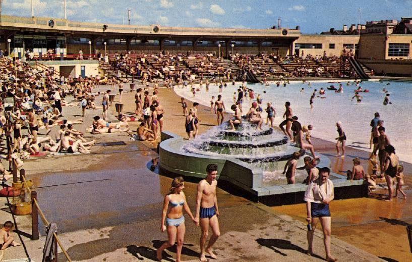 New Brighton Baths The Wirrall Had 7 Open Air Baths New Brighton Baths Was Classic Art Deco
