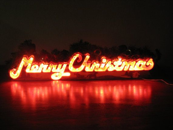 Merry Christmas Decoration Sign Vintage | Christmas | Pinterest ...