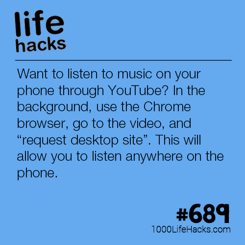 Listen To Music On Your Phone Through Youtube   Life Hacks