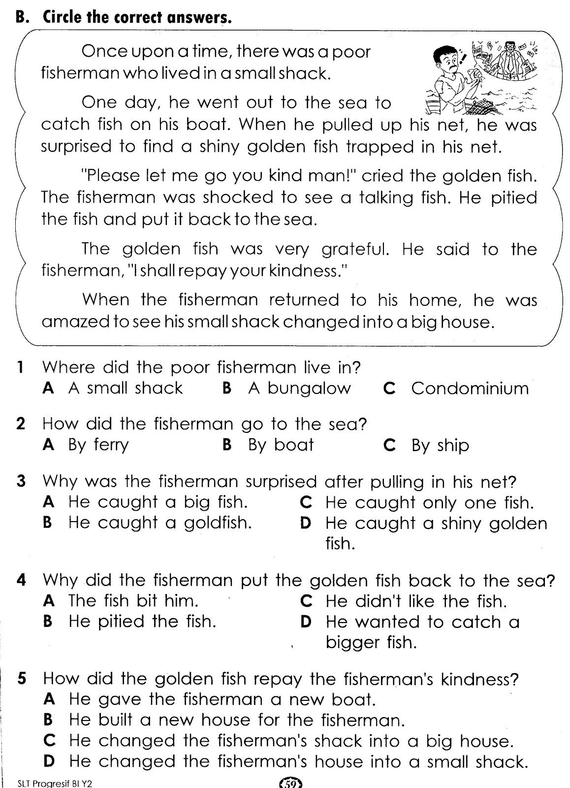 - Exercise (With Images) Reading Comprehension Worksheets, Reading