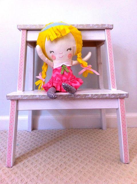 ikea bekv m hocker makeover mit washitape ikea bekv m step stool makeover washitape via sweet. Black Bedroom Furniture Sets. Home Design Ideas