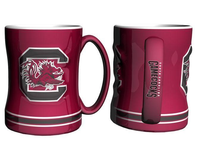 South Carolina Gamecocks Coffee Mug - 14oz Sculpted Relief