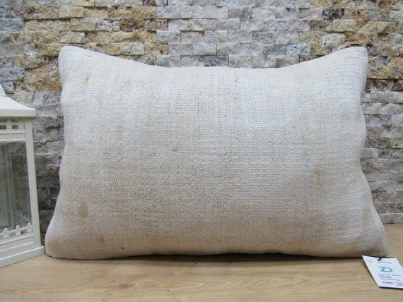 naturel pillow / boho decor pillow / turkish pillow / 16x24 ethnic pillow / floor pillow / tribal pi