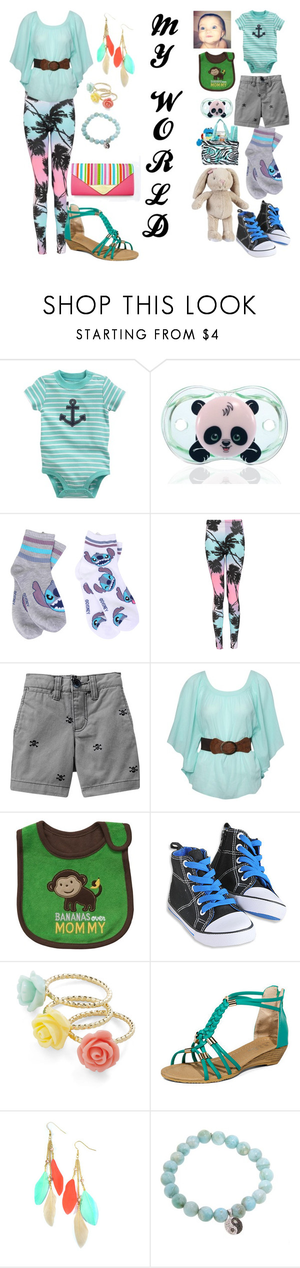 """Mother and son!"" by sylviac360 ❤ liked on Polyvore featuring Carter's, Disney, Boohoo, Old Navy, Jane Norman, Kerr®, yeswalker and Sydney Evan"