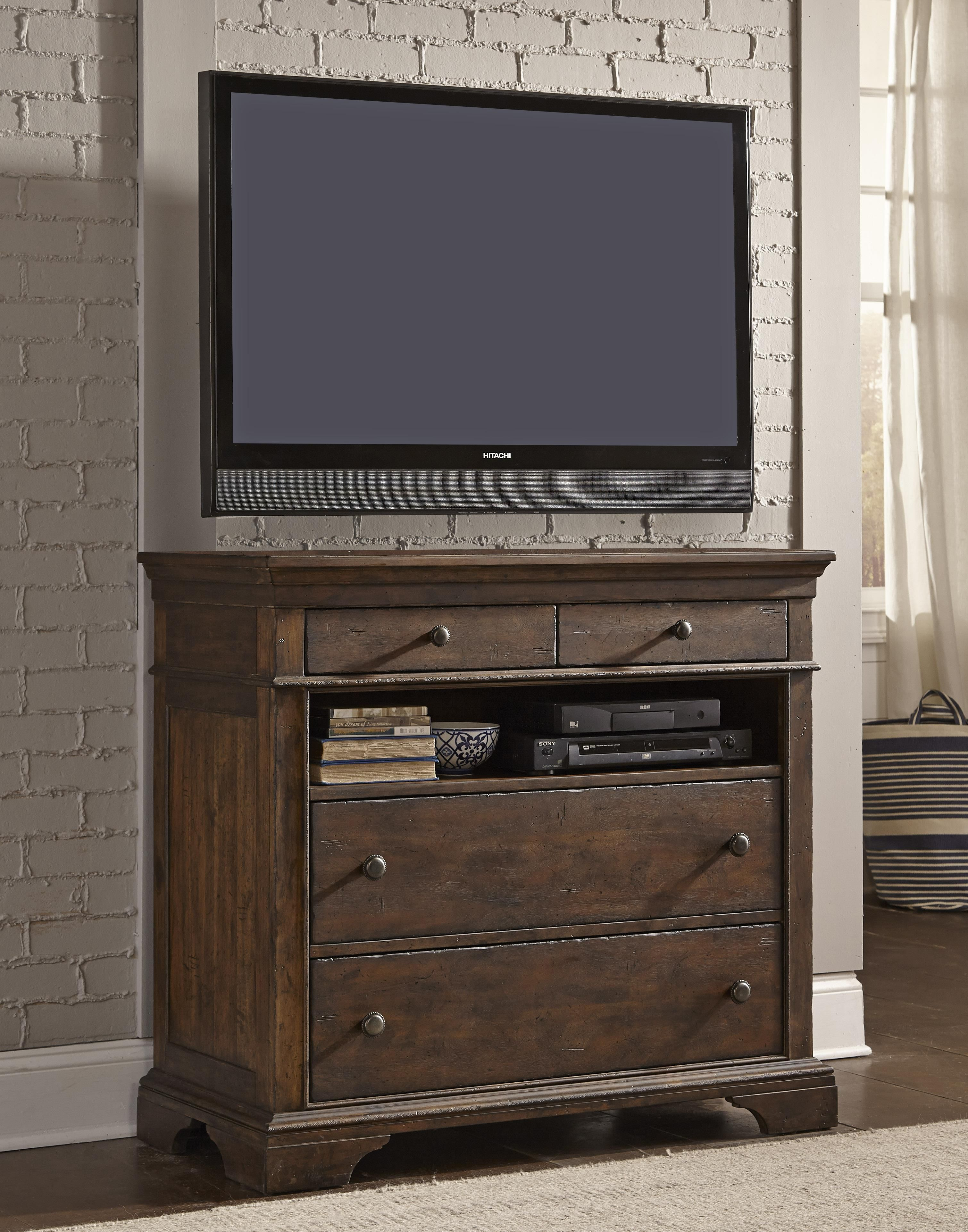 Trisha Yearwood Home Stillwater Media Chest with 4 Drawers by ...