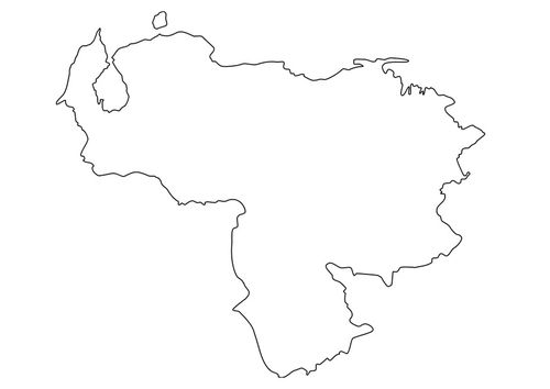 Coloring Page Map Of Venezuela Coloring Pages Map