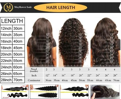 Mayflower hair size chart also weave length natural pinterest style rh