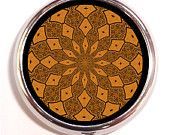 Geometic Kaleidoscope Art Pill Box Case Pillbox Festival Hippie Sacred Geometry Spiritual