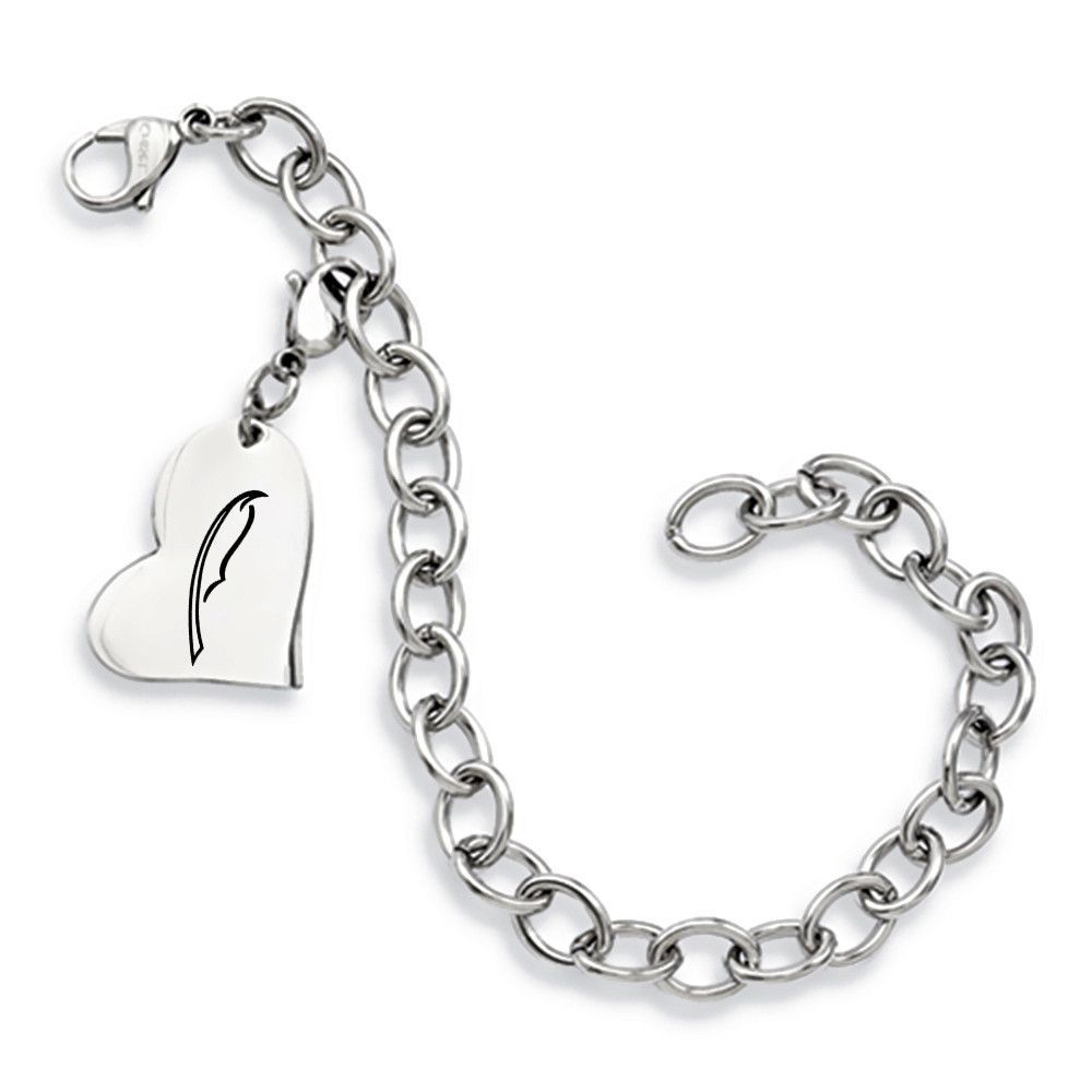 Alpha Xi Delta Symbol Stainless Steel Heart Bracelet Products