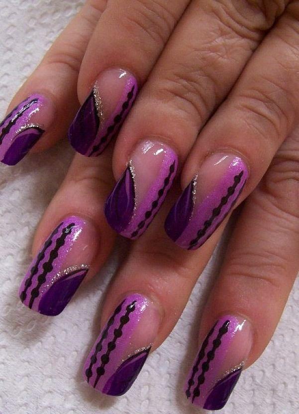 Purple Nail Polish Designs Nail Designs Simple Nail Designs