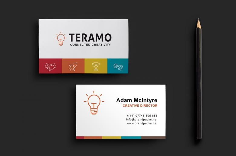 Free clean and professional double sided business card template free clean and professional double sided business card template wajeb Images