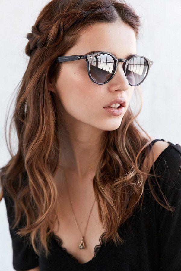 Ray Ban Highstreet Round Sunglasses Güneş Gözlüğü Giyim Makyaj