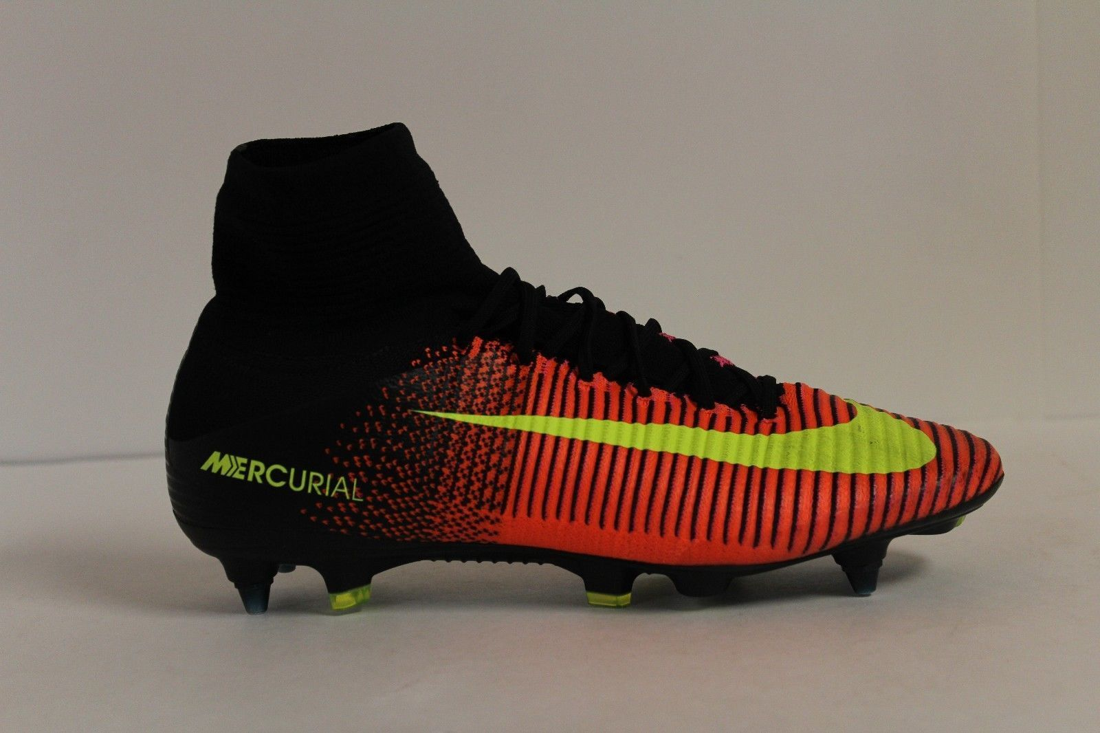 cb13ca530093 NIKE MERCURIAL SUPERFLY V SG-PRO SOCCER CLEATS SIZE 7 CRIMSON BLACK  831956-870