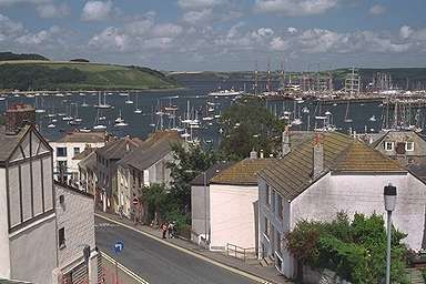 View of Falmouth Harbour with visiting Tall Ships