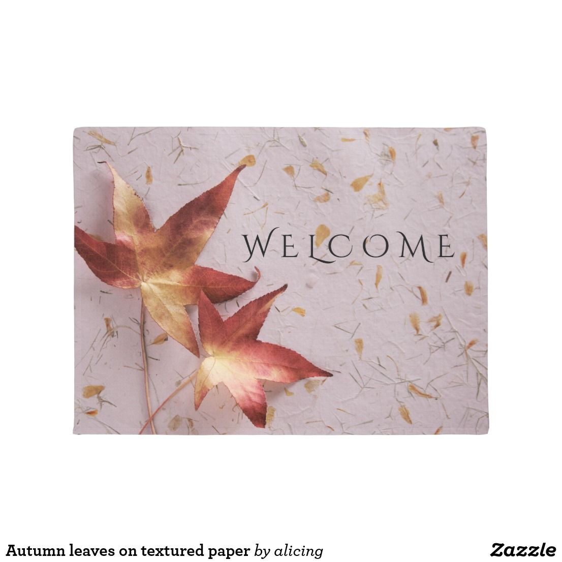 Autumn leaves on textured paper doormat house autumn leaves on textured paper doormat kristyandbryce Images