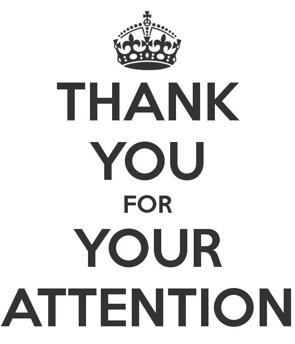 Thank You For Your Attention Attention Keep Calm Posters I Thank You
