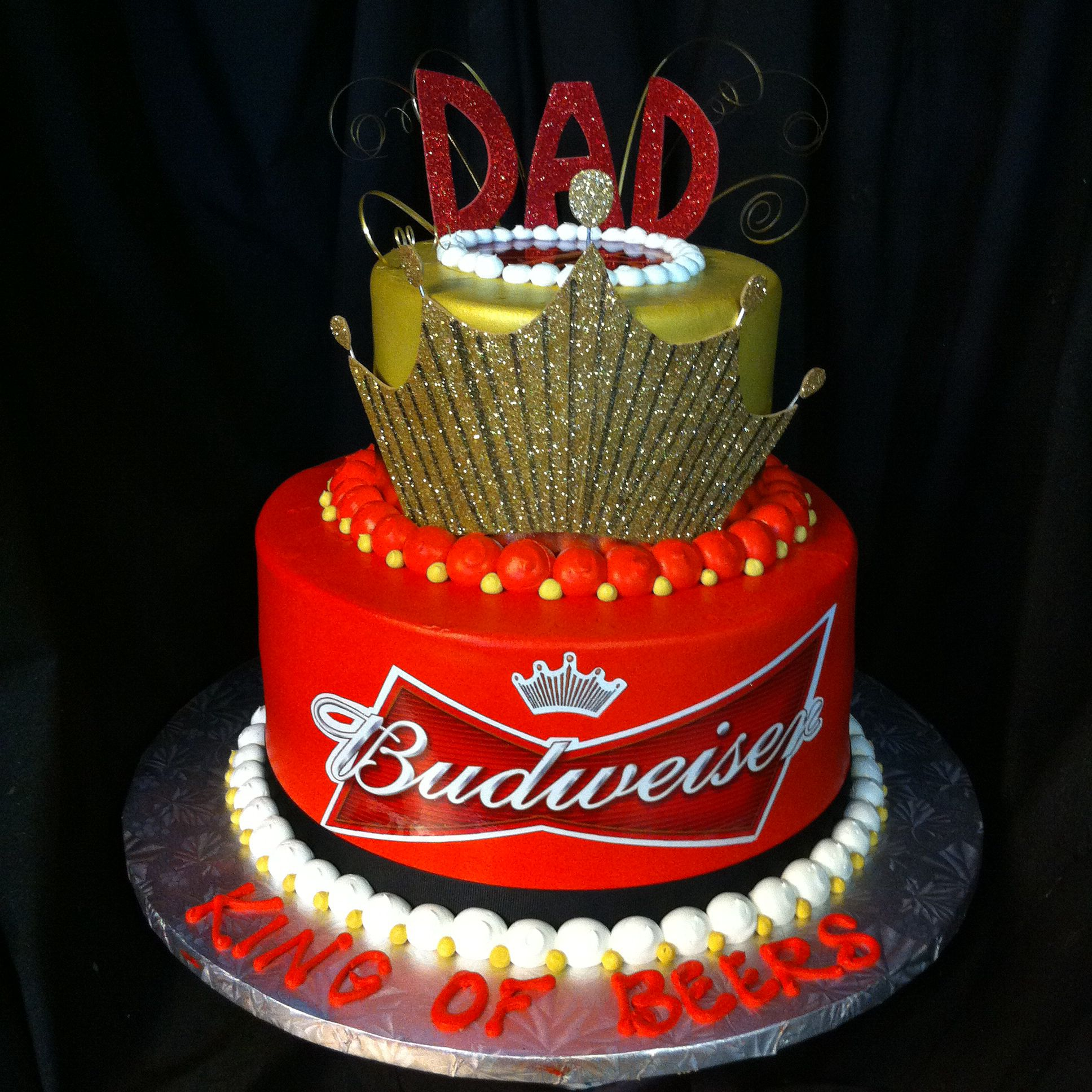 Budweiser birthday cake This is bad ass men cakes
