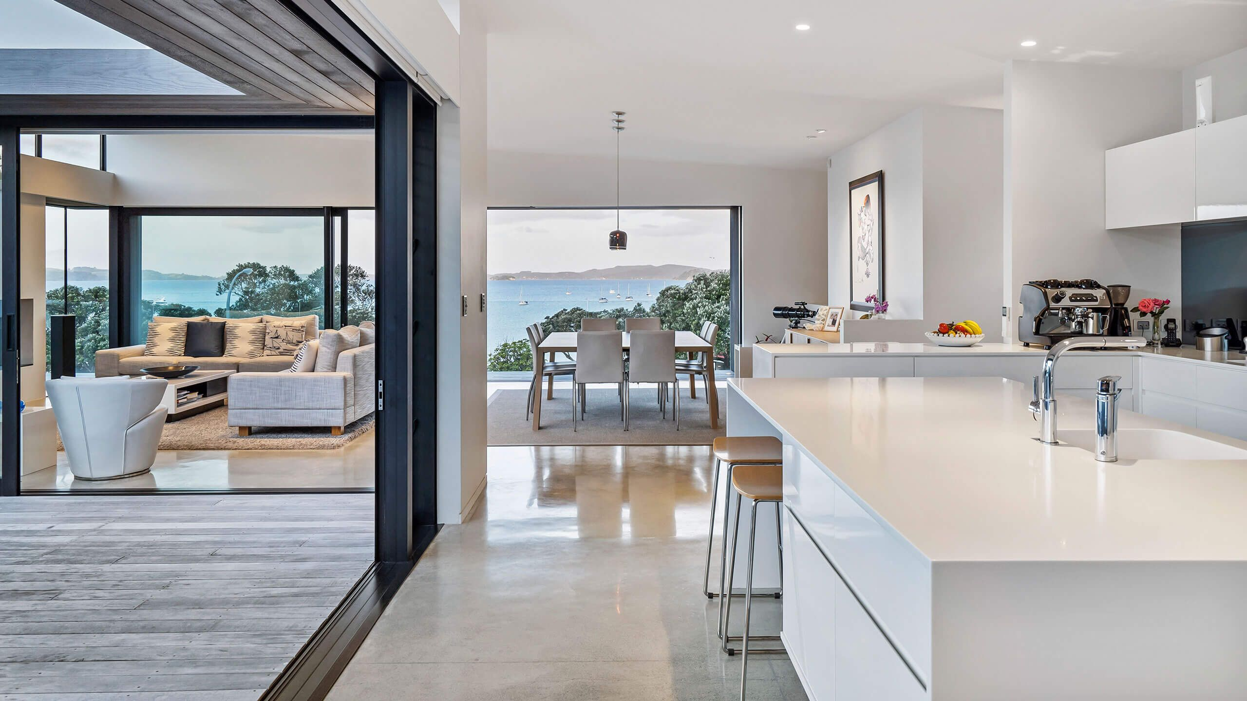 Kitchen Flooring Ideas Nz In 2020 Floor Design Concrete Floors Concrete Floors Living Room