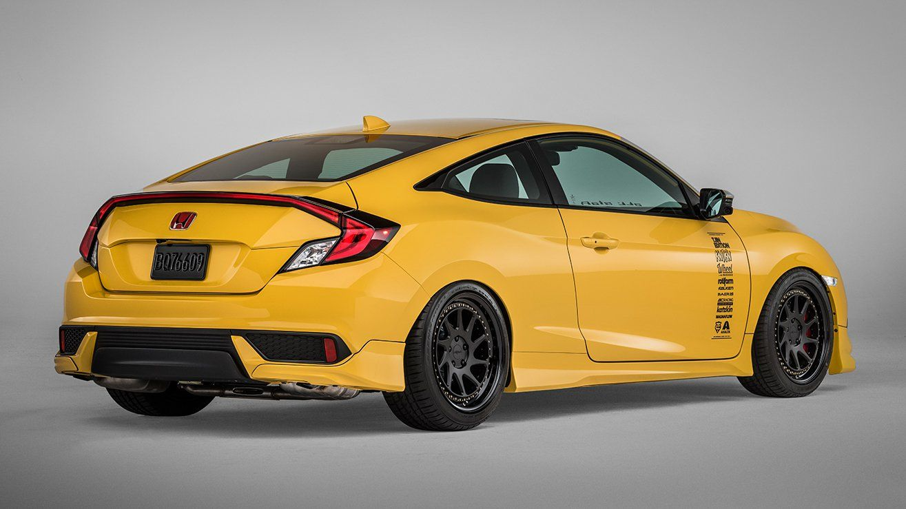 Yellow Coloured Honda Civic Coupe Sema 2016 Honda Civic Coupe Civic Coupe Honda Civic
