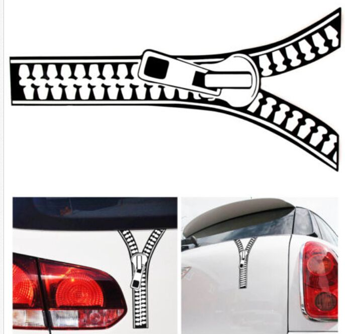 Pieces Lot Wholesale Funny Zipper Car Decal Emblem Graphic - Funny decal stickers for carssticker car window picture more detailed picture about funny car