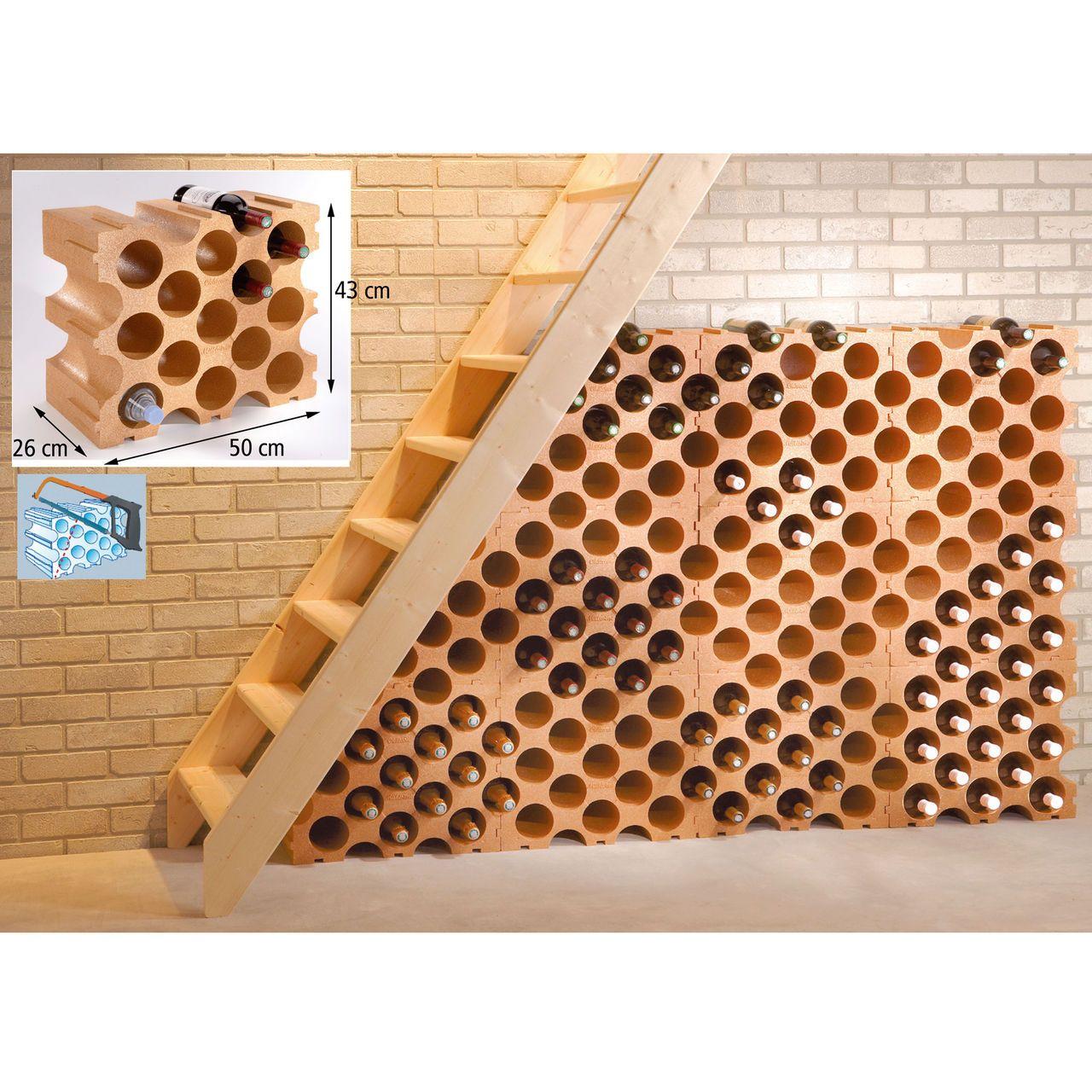 Wine Rack Terracotta Synthetic Material Adega Casas Projetos