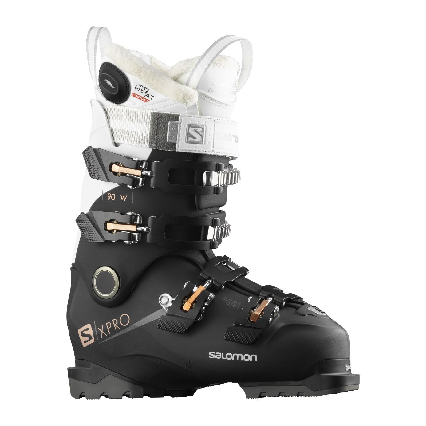 Chaussure de ski Salomon X Pro 100 Custom Heat Connect Black Metallic Black White