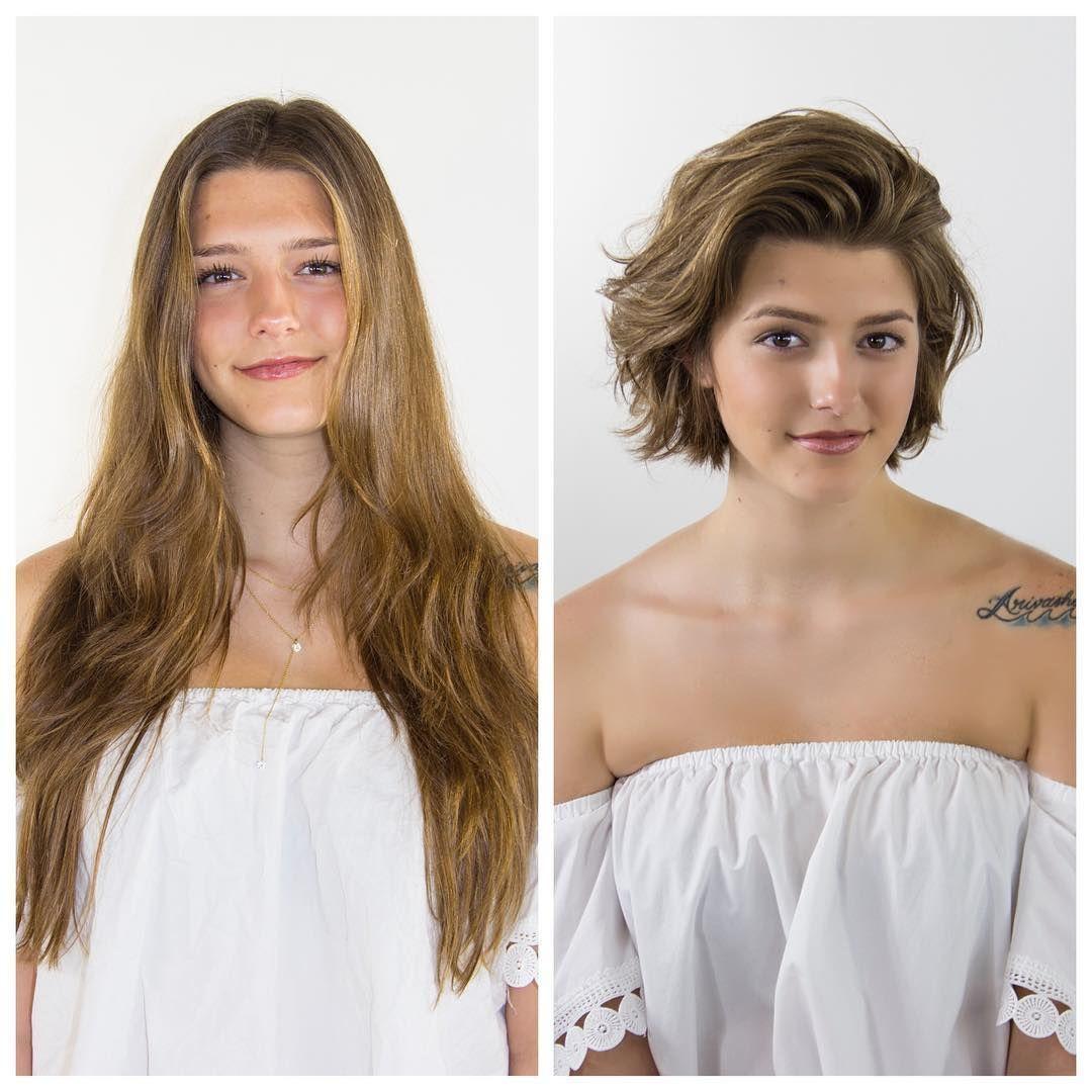 Lange haare abschneiden vorher nachher