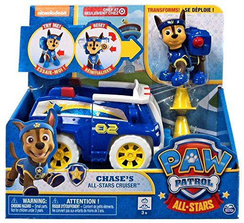 Paw Patrol Chase Patrol Cruiser Dog chiot Figure /& véhicule voiture Set by Spin Master