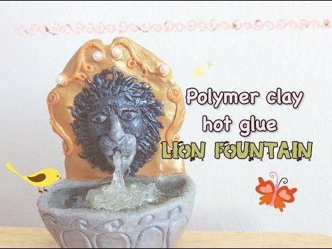 Hot Glue Fountain Polymer Clay Lion