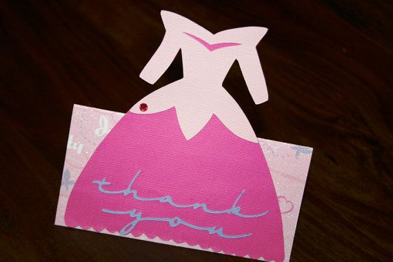 AURORA Thank You Party Favor Table Tag Fold Over by TheBirdsEye, $4.00