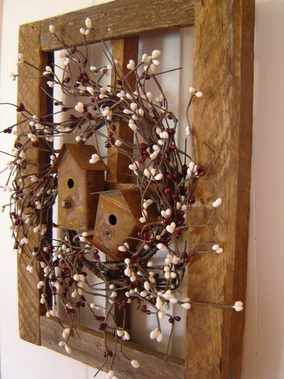 Rustic Window With Birdhouses Try Making Your Own Window